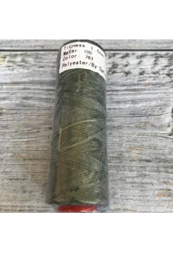 DAFNA Нитки вощеные 1мм (763 темно-зеленый)