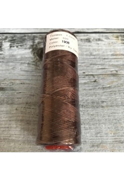 DAFNA Нитки вощеные 1мм (1908 коричневый)
