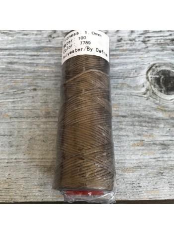 DAFNA Нитки вощеные 1мм (7789 светло-коричневый)