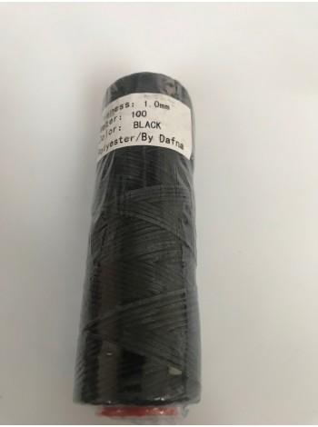 DAFNA Нитки вощеные 1мм (Черный)