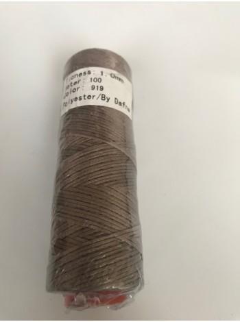 DAFNA Нитки вощеные 1мм (919 серый)