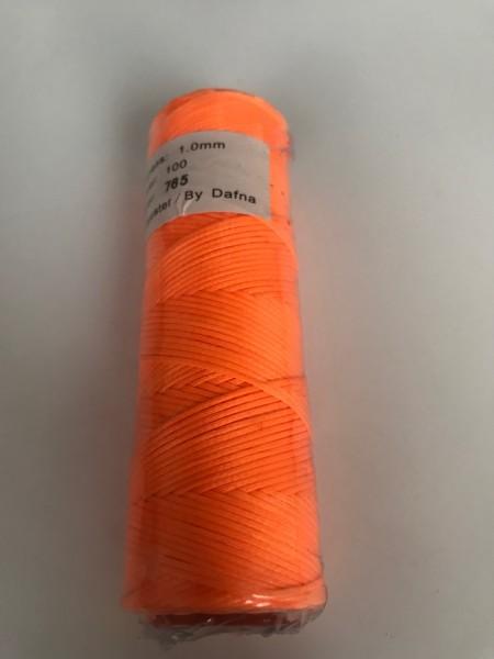 DAFNA Нитки вощеные 1мм (765 ярко-оранжевый)