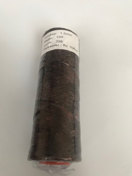DAFNA Нитки вощеные 1мм (726 светло-коричневый)