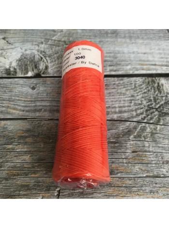 DAFNA Нитки вощеные 1мм (3040 оранжевый)