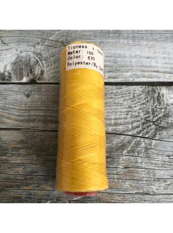 DAFNA Нитки вощеные 1мм (670 желтый)