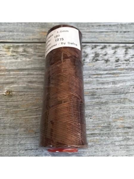 DAFNA Нитки вощеные 1мм (1275 коричневый)