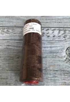 DAFNA Нитки вощеные 1мм (1446 коричневый)