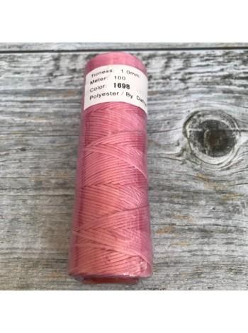 DAFNA Нитки вощеные 1мм (1698 розовый)